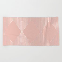 Geo / Blush Beach Towel