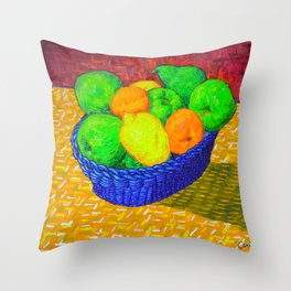Still Life with Apples, Lemons, Oranges, and Pear Throw Pillow