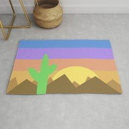 Arizona Desert Sunset Illustration Rug