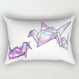 Origami Cranes Rectangular Pillow