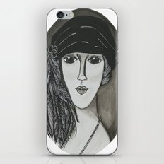 Bright Eyed Girl iPhone & iPod Skin
