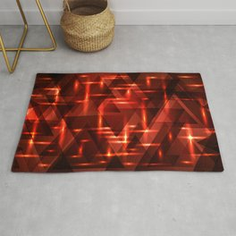 The intersection of the color of red brick on a dark background of metal. Rug