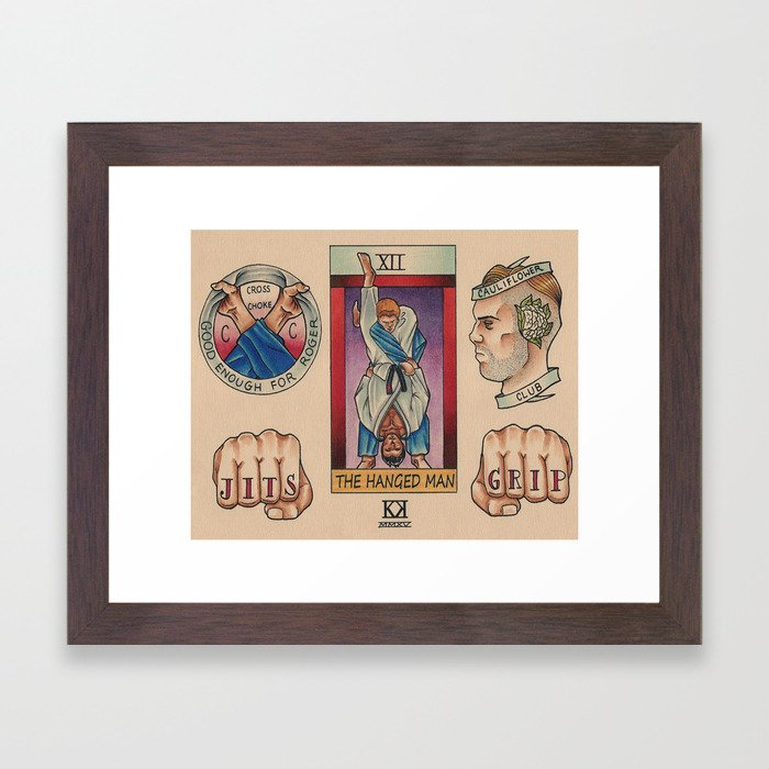 BJJ Flash II Framed Art Print
