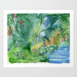 Serene Boheme Watercolor Art Print