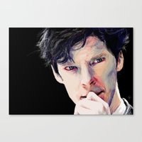 cumberbatch Canvas Prints featuring Benedict Cumberbatch by Hash
