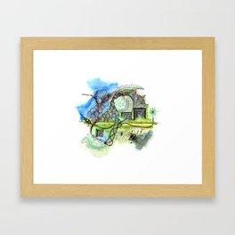 Spring Spiral Framed Art Print