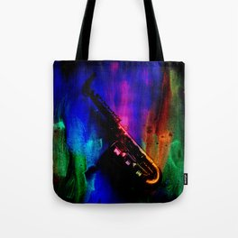 Midnight Sax Tote Bag