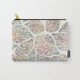 Soft Color Abstract Leaf Scatter Carry-All Pouch