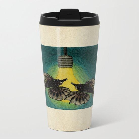 Sea Moths Metal Travel Mug
