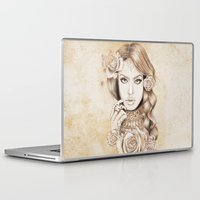 aaliyah Laptop & iPad Skins featuring Aaliyah Vintage Art by DejaLiyah
