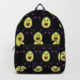 Let's Avocuddle AVOCADO - dark bg Backpack