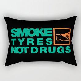SMOKE TYRES NOT DRUGS v7 HQvector Rectangular Pillow