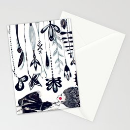 Diamonds and Flowers_01 Stationery Cards