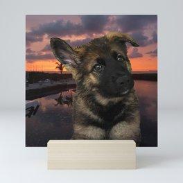 Loki German Shepherd Mini Art Print