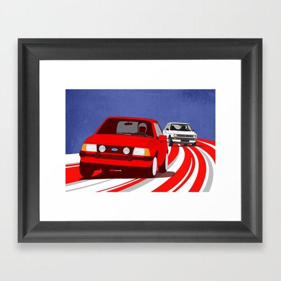 Hatch Dance Framed Art Print