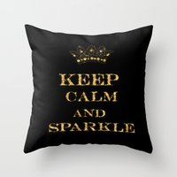 keep calm Throw Pillows featuring Keep calm by UtArt