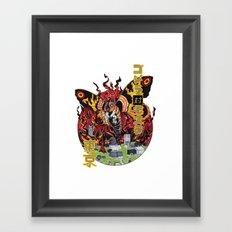 Monster VS Monster Framed Art Print