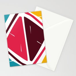 Abstract Retro shapes Set, Hand Painted Tribal Shapes, Retro Classic Colors, No 02 Stationery Cards