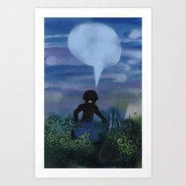 Boy Runs Series Art Print