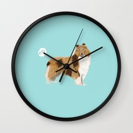 rough collie funny farting dog breed pure breed pet gifts Wall Clock