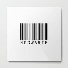hogwarts barcode Metal Print