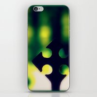 cross iPhone & iPod Skins featuring Cross by Leffan