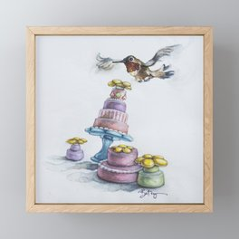 Rufio Takes the Cake, AKA Happy Hummingbird Party Framed Mini Art Print