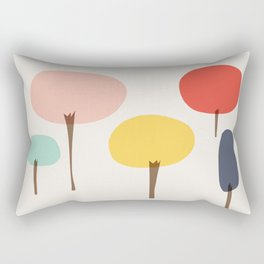Glass Trees Rectangular Pillow
