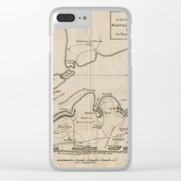 Vintage Map of Martha's Vineyard (1782) Clear iPhone Case