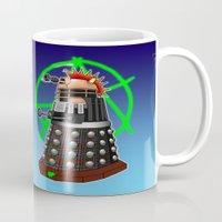 dalek Mugs featuring Punk Dalek by Andrew Mark Hunter