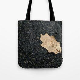 Autumn Leaf With Raindrops Tote Bag