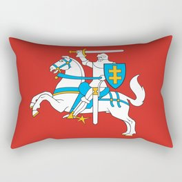 State Flag of Lithuania Knight On Red Rectangular Pillow