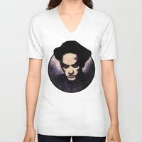 religion V-neck T-shirts featuring Losing My Religion by Rouble Rust