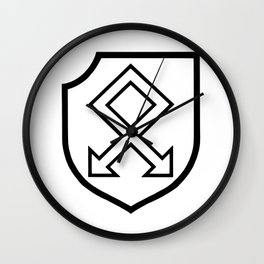 Martial Military Insignia Symbol Wall Clock