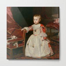 "Diego Velázquez ""Infant Philipp Prosper (Felipe Próspero)"" Metal Print"