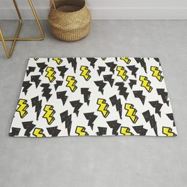 pattern black yellow lightning 01 Rug