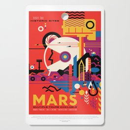 Mars space travel poster Cutting Board