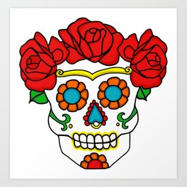 Rose Calavera Art Print