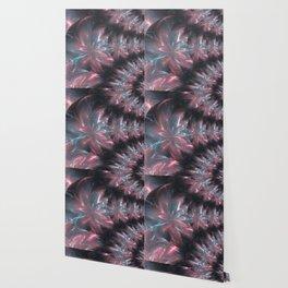 Abstract Flowers Symmetric Arrangement Wallpaper