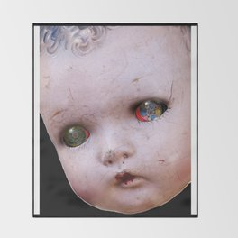 Red-Eyed Mentalembellisher Halloween Doll Throw Blanket