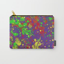 Expr3ss Y0ur5e1f - Expressive, abstract colour splatter painting Carry-All Pouch
