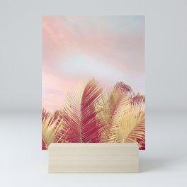 Pink Palms in the Breeze Mini Art Print
