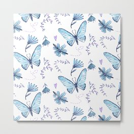 The Butterfly Effect - Blue Metal Print