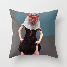 Diablito 3 Throw Pillow