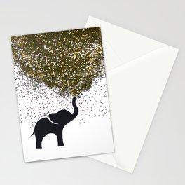 elephant w/ glitter Stationery Cards