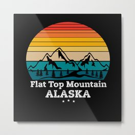 Flat Top Mountain Alaska Metal Print