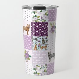 Australian Cattle Dog cheater quilt pattern dog lovers by pet friendly Travel Mug