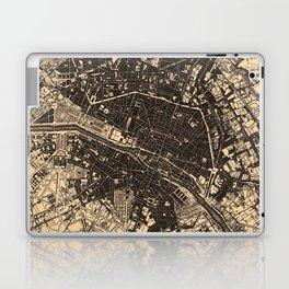 Vintage Map of Paris France (1907) Laptop & iPad Skin