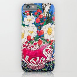 Horse Urn with Tiny Apples and Matilija Queen of California Poppies Floral Still Life iPhone Case