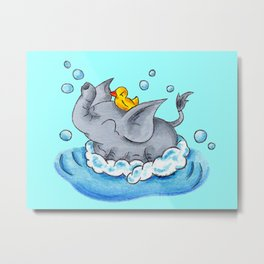 Bubble Bath Buddy Metal Print